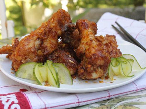 canhgarangion Cách làm cánh gà rán giòn sốt sa tế