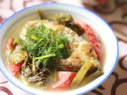 canhcanauduachua Canh cá nấu dưa chua
