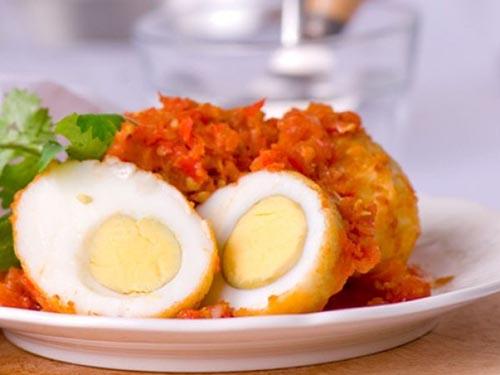 trungchiensotcay Trứng chiên xốt cay